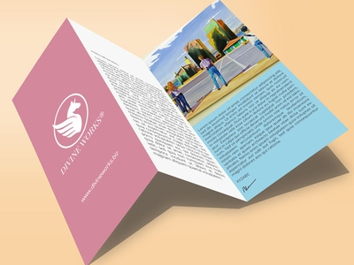 tri fold brochure mockup divine works on dribbble