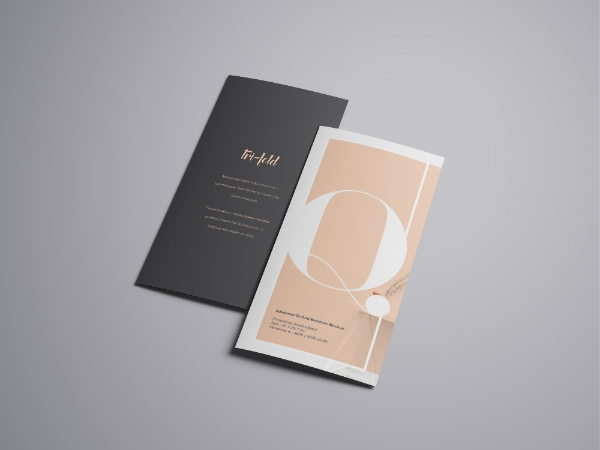 trifold brochure mockup free psd download