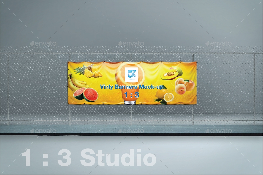vinyl banner mock up kenoric graphicriver