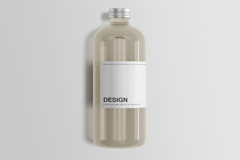 34 useful glass bottle mockups food and beverage packaging colorlib