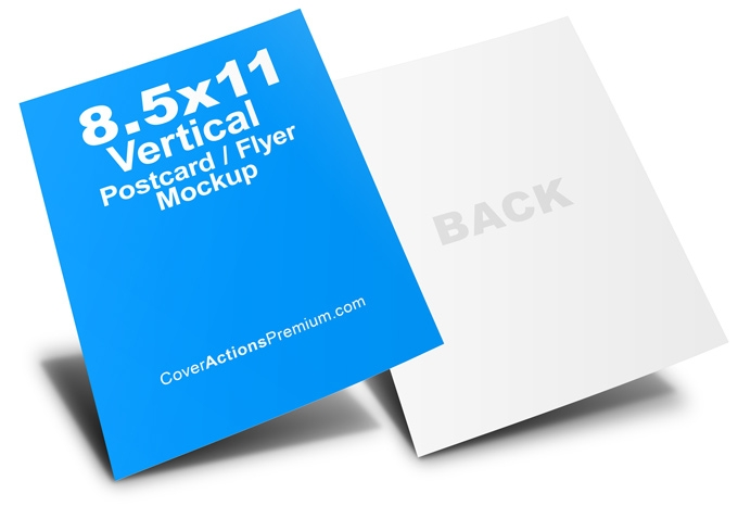 85 x 11 vertical flyer mockup cover actions premium mockup psd