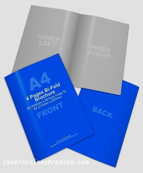 a3 half fold brochure mock up brochure booklet mockups