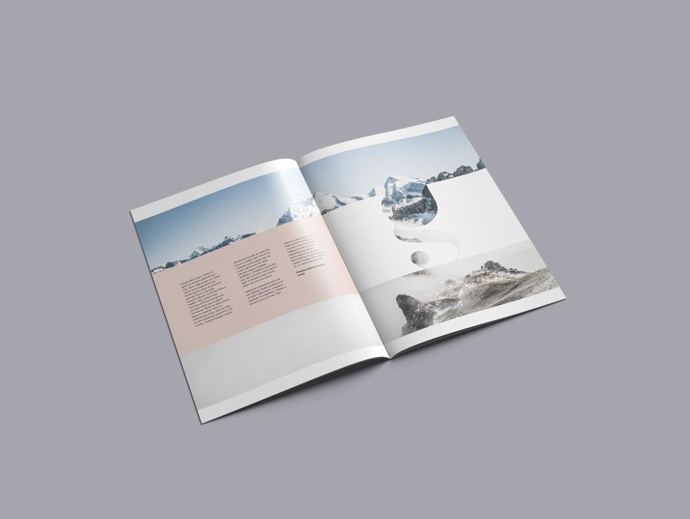 a4 brochure mockup psd