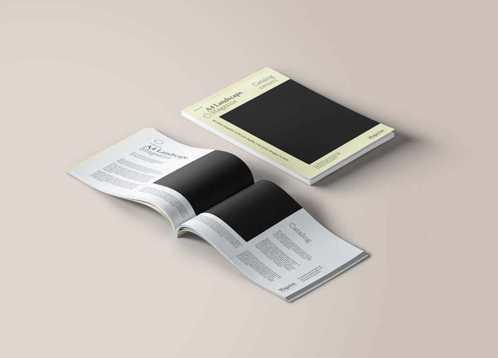 a4 landscape magazine mockup mockupworld