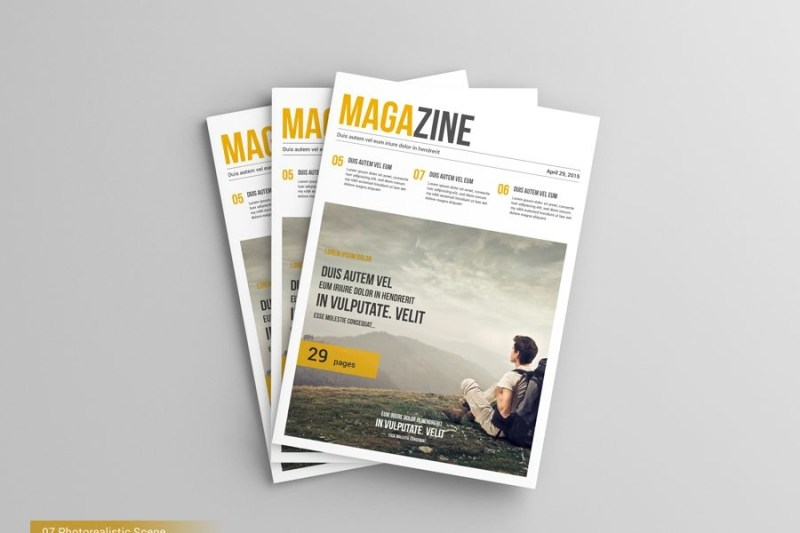 a4 magazine mock ups
