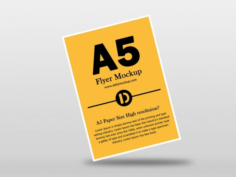 a5 flyer mockup free download daily mockup
