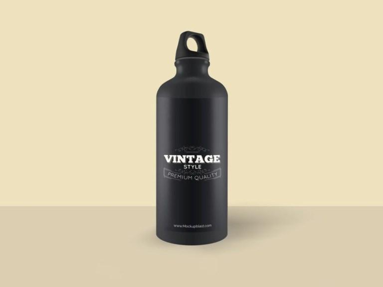 aluminium water bottle mockup mockupblast