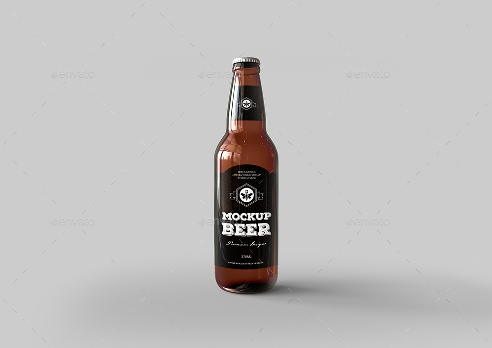 beer bottle mock up glass bottle mockup premium edition mock