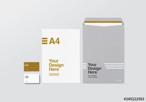 business card letterhead and envelope mockup buy this stock