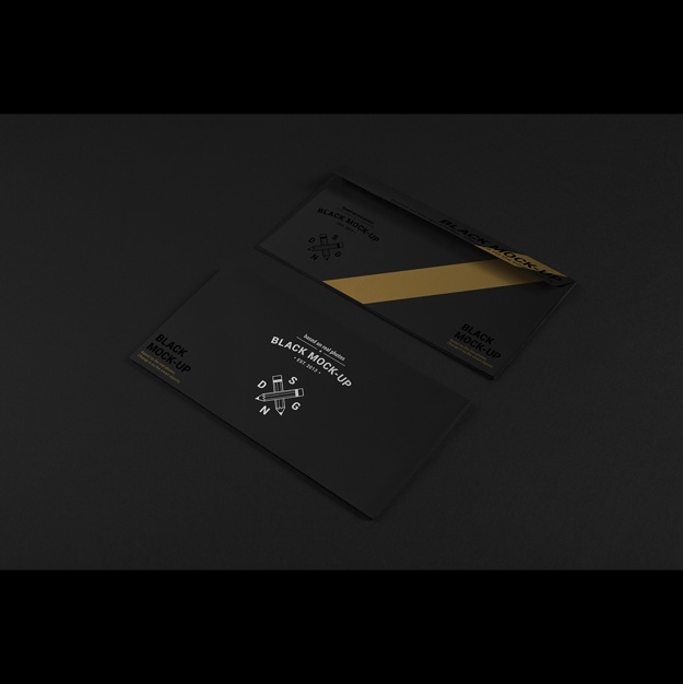 business envelope mock up design psd file free download