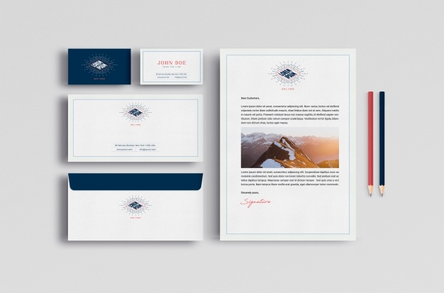 business stationery mock up psd file free download