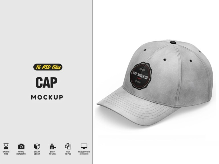 cap mockup pixelmockup on dribbble
