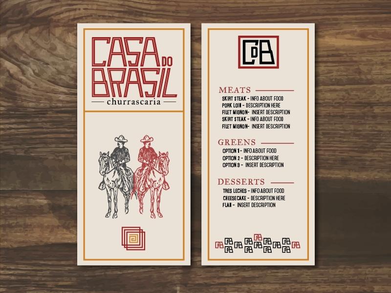 casa do brasil menu mockup josh gamble on dribbble