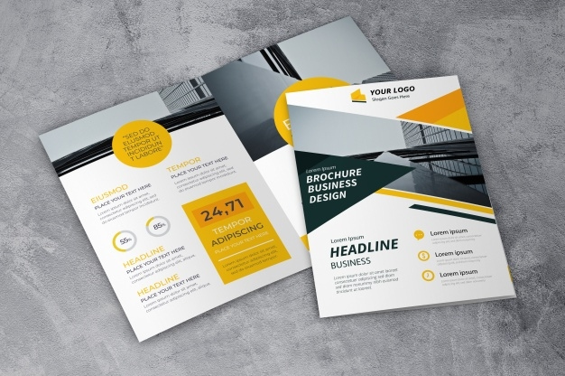 creative brochure mockup psd file free download