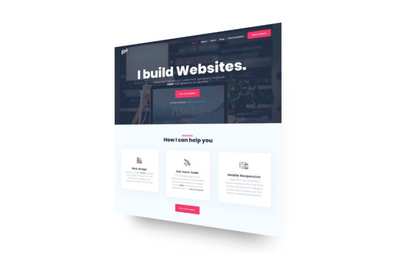 css 3d website mockups in divi andy hooke
