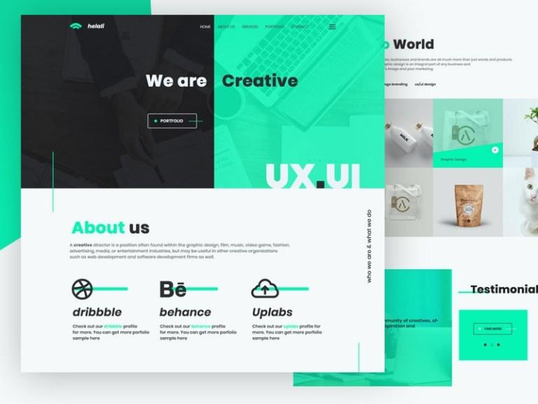 digital agency website psd mockup download for free designhooks