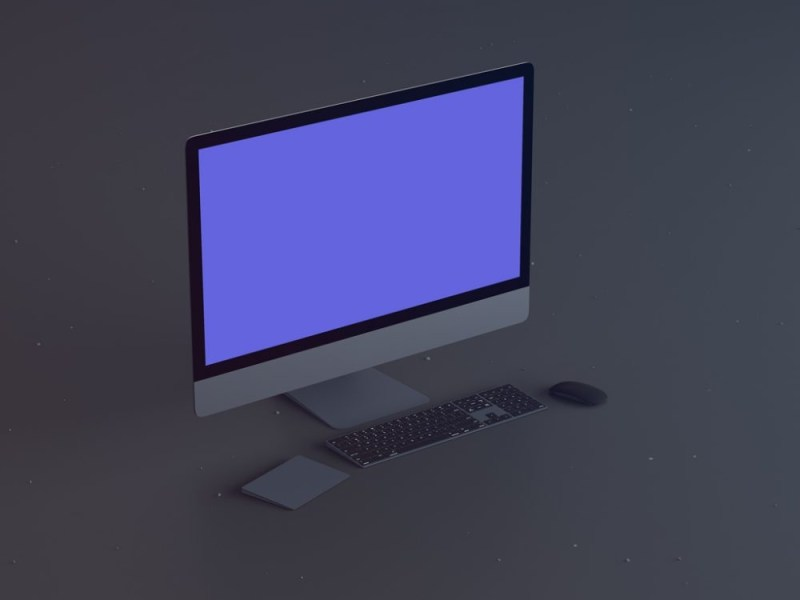 exclusive freebie space gray imac pro mockup mockupworld