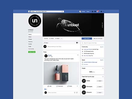 facebook page mockup 2019 psd
