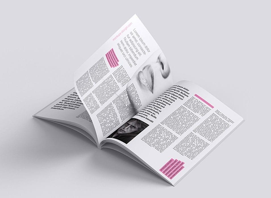 flipped magazine mockup free psd pixelpapa