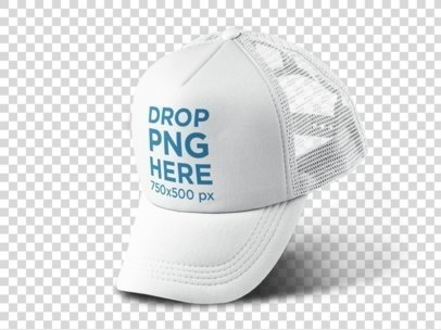 floating trucker hat png mockup a11751