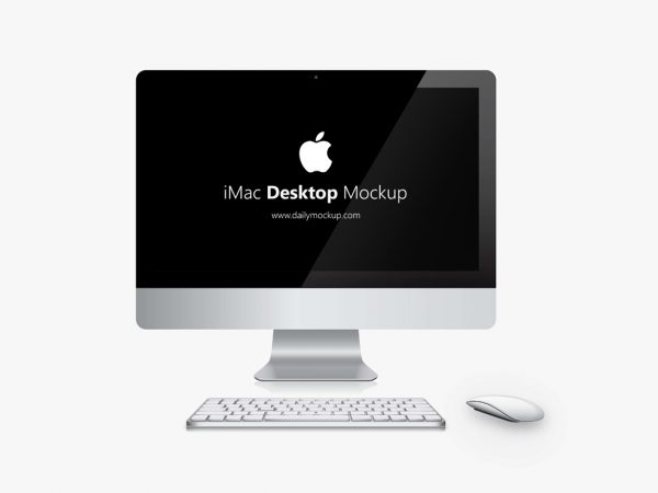 free apple imac mockup psd template 2019 dailymockup