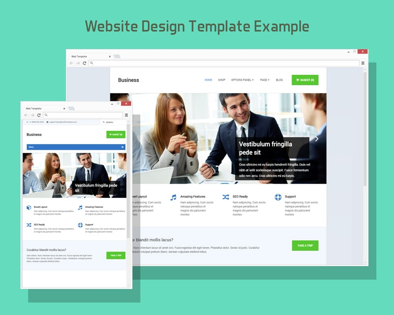 free browser website design template mock up psd