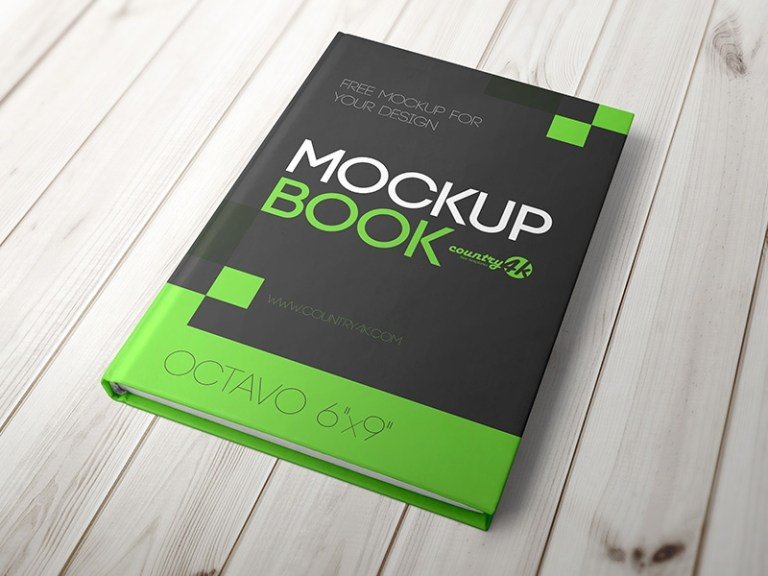 free hardcover book mockup in psd country4k on dribbble