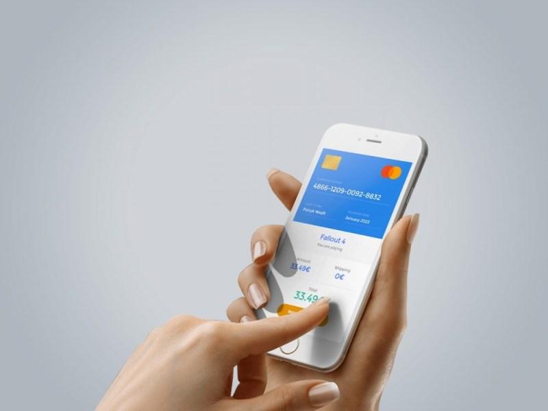 free iphone mockup in hand free mockup