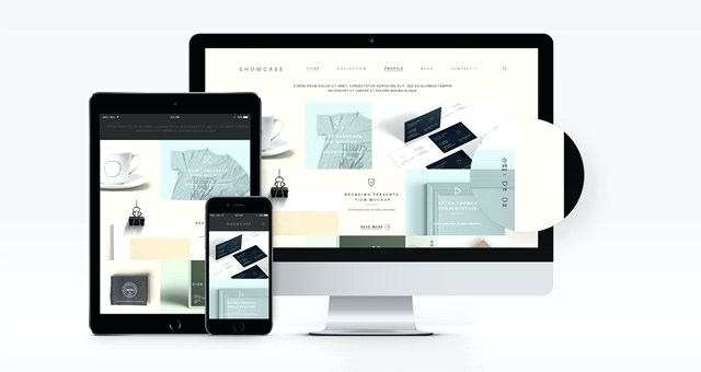 free modern and useful website templates mockup psd template