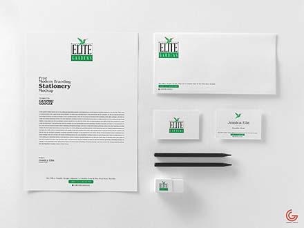 free modern branding stationery mockup psd
