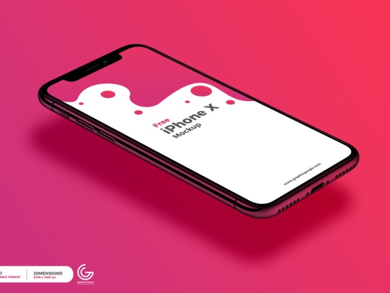 free perspective view iphone x mockup free mockup
