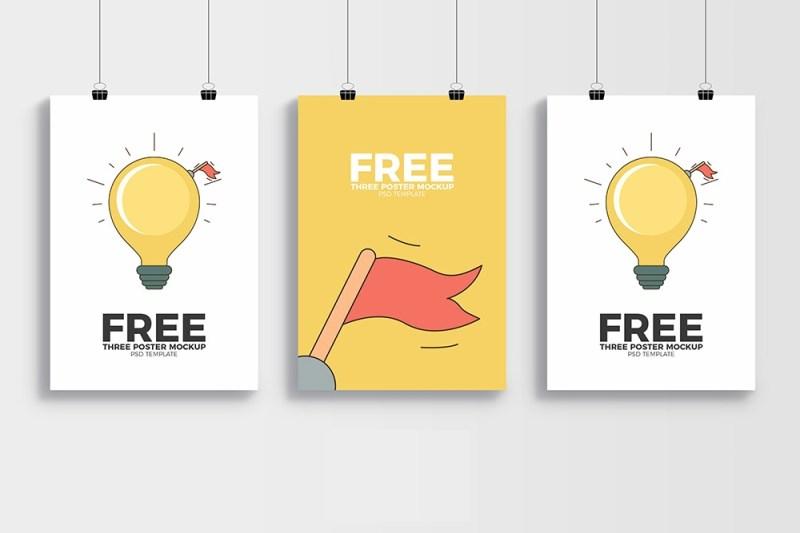 free psd poster mockup mockuptree