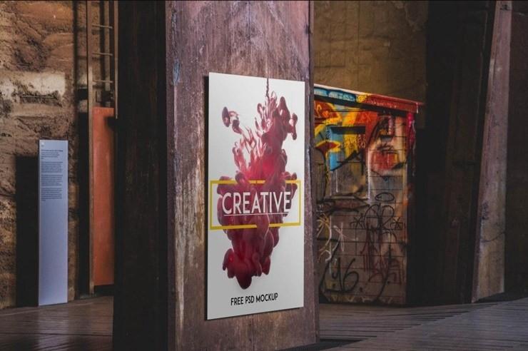 free psd urban poster mockup pixelsmarket medium