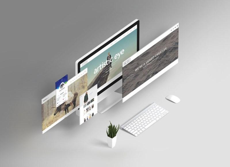 free responsive website design showcasing mockup psd good mockups
