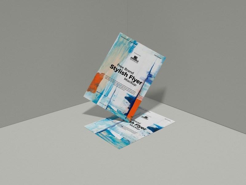 free stylish flyer mockup design mockup planet