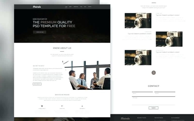 free website creative beacon template download mockup psd