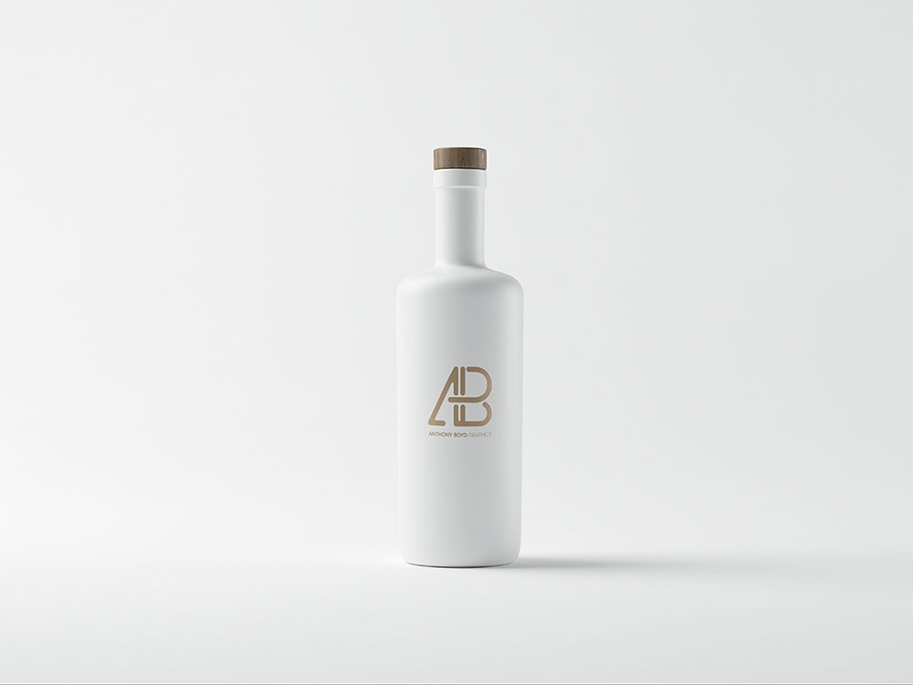 free white bottle mockup mockuptree