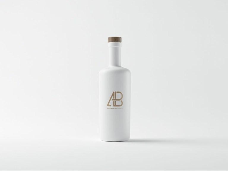 free white bottle mockup mockuptree