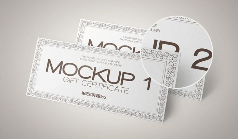 gift certificate psd mockup templates wooskins