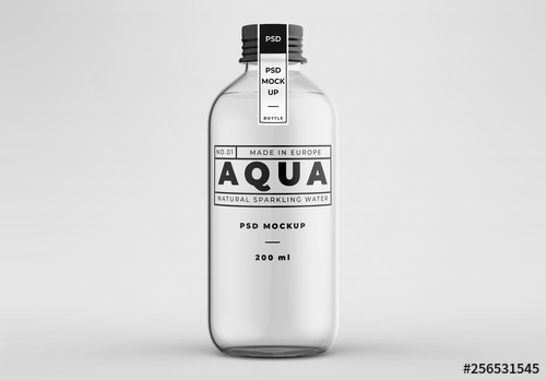 glass bottle mockup buy this stock template and explore similar