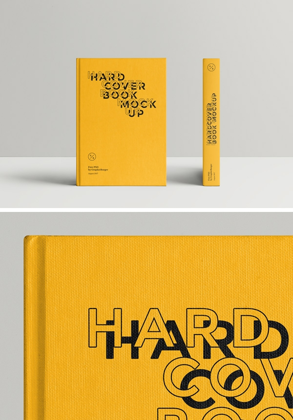 hardcover book mockup 2 graphicburger