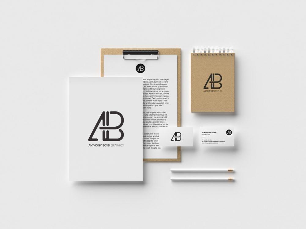 identity branding stationery mockup mockupworld
