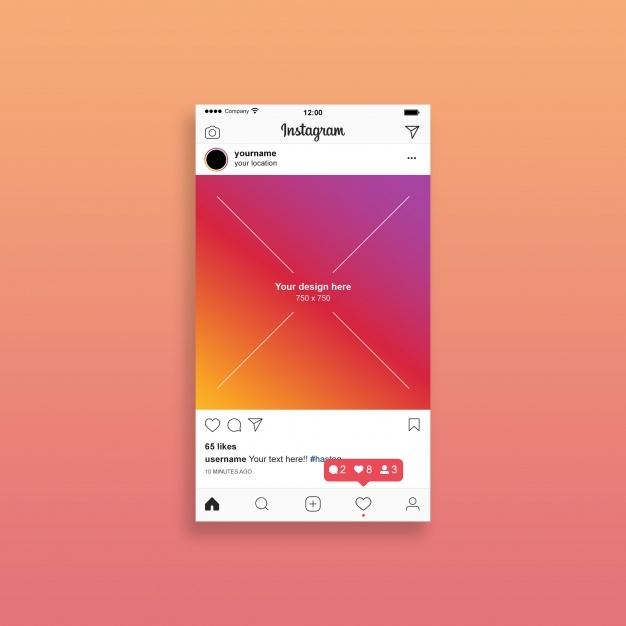instagram post mockup psd file premium download