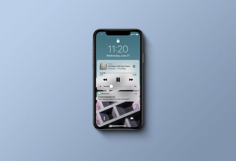 iphone x top view mockup mockupworld