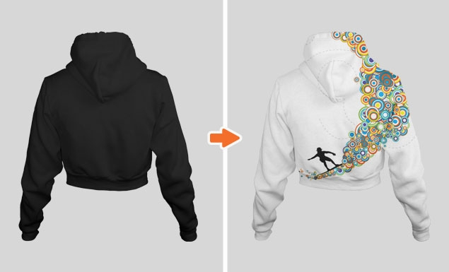 ladies ghosted hoodie mockup pack