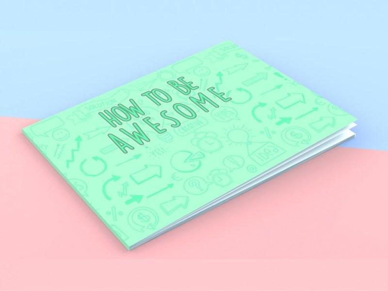 landscape booklet mockup mockupworld
