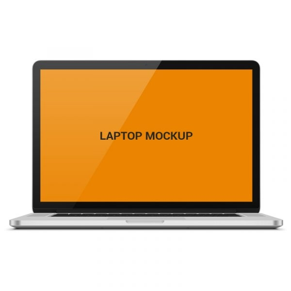 laptop mock up template design free psd download