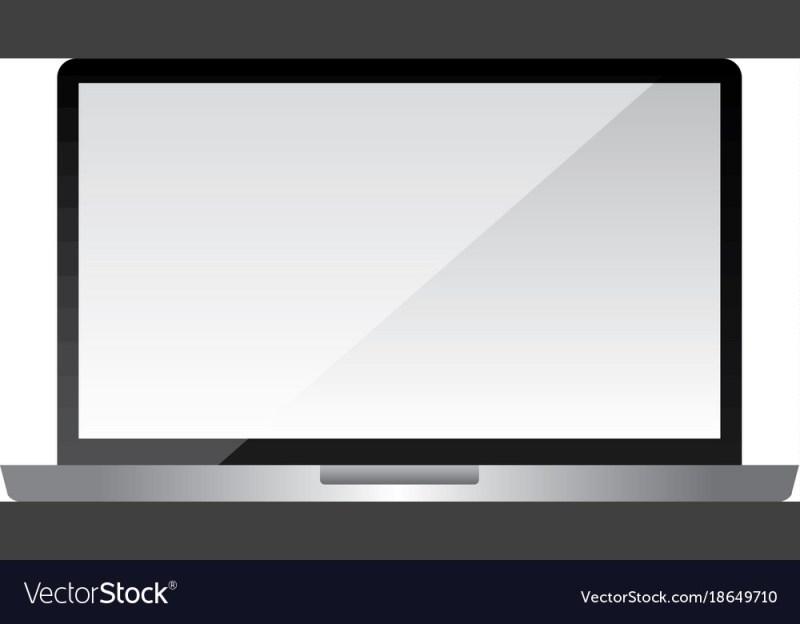 laptop mockup gadget blank screen technology vector image
