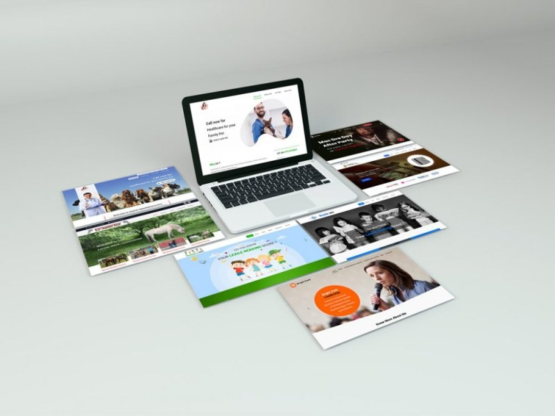 macbook with websites showcase mockup mockupworld