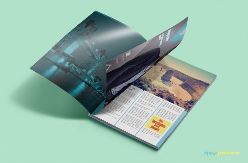 magazine mockup tech all